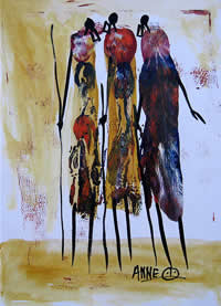 Anne Berenge kenyan artist oil paintings