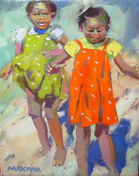 Makiwa Mutomba oil paintings south african artist